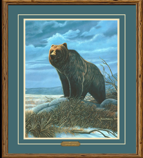 Griz Grizzly Bear Wildlife Painting By Michael R Matherly